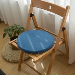 植沃家居 圆形乳胶坐垫 圆形直径36cm厚度3.5cm 海蓝