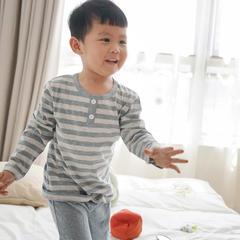 针织儿童家居服 130码/儿童短袖 烟蓝