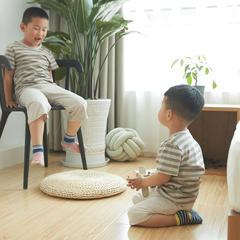 针织儿童家居服 130码/儿童短袖 中咖