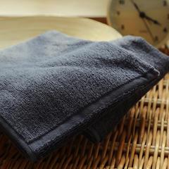 植沃家居 可裁剪纯棉素色毛巾 方巾34*35cm深灰