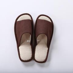 植沃家居 开口外缝拖鞋男款 39-42码 咖色