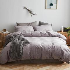 2018新款-天鹅绒四件套 1.8m床单款 暗紫