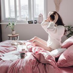2018新款-天鹅绒四件套 1.5m床单款 玫粉