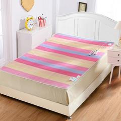 小羊羔电热毯 三色横条毛毯双控: 150*180