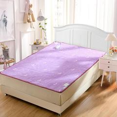 小羊羔电热毯 紫色月亮单面花:双人双控120*150