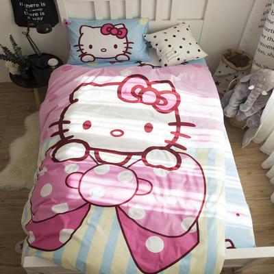 2018新款全棉大版卡通三件套 1.2m(4英尺)床 甜心kitty