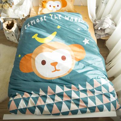 2018新款全棉大版卡通三件套 1.2m(4英尺)床 甜心小猴