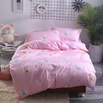 2018新款60长绒棉三件套 1.5m(5英尺)床 佩琪粉