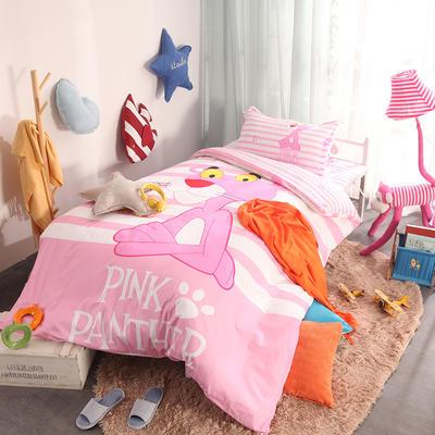 2018新款全棉大版卡通三件套 1.2m(4英尺)床 粉红豹