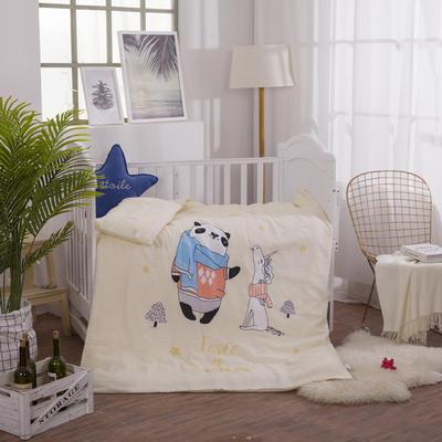 2018新款幼儿园大版双层纱套件系列三件套 1.2m(4英尺)床 熊猫之家