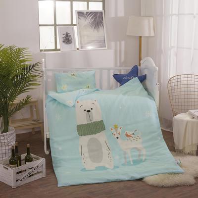 2018新款幼儿园大版双层纱套件系列三件套 1.2m(4英尺)床 可爱小熊