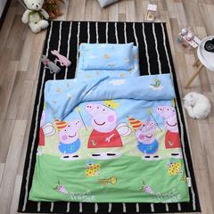 2018新款全棉幼儿园平价三件套 适合各规格幼儿园床 小猪佩奇-蓝(三件套)
