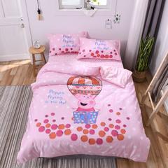 2018新款60s长绒棉大版卡通三件套 1.0m(3.3英尺)床 欢乐佩奇
