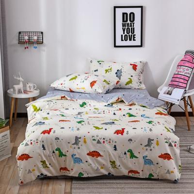 2018新款60s长绒棉三件套 1.2m(4英尺)床 恐龙贝迪
