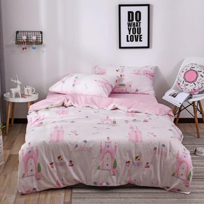 2018新款60s长绒棉三件套 1.2m(4英尺)床 梦幻城堡