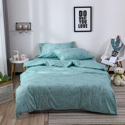 2018新款60s长绒棉三件套 1.2m(4英尺)床 闪星世界