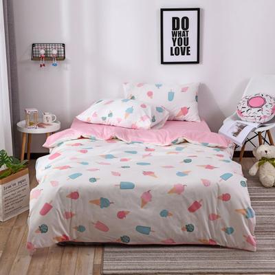 2018新款60s长绒棉三件套 1.2m(4英尺)床 甜心格格