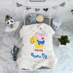 2018新款高密纱大版卡通有机棉花被 120*150cm/2斤 乔治与木马