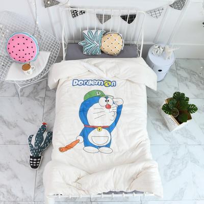2018新款高密纱大版卡通有机棉花被 120*150cm/2斤 棒球叮当