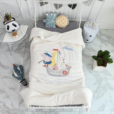 2018新款高密纱大版卡通有机棉花被 120*150cm/2斤 海军乔治