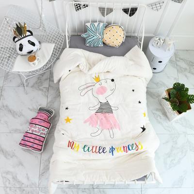 2018新款高密纱大版卡通有机棉花被 120*150cm/2斤 兔公主