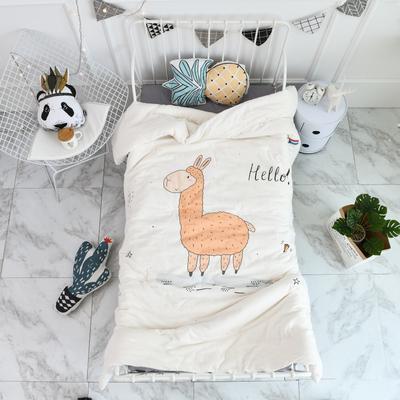 2018新款高密纱大版卡通有机棉花被 120*150cm/2斤 小羊驼