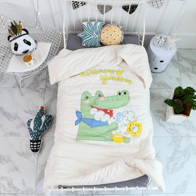 2018新款高密纱大版卡通有机棉花被 120*150cm/2斤 早安宝贝