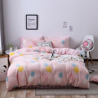 2018新款蓄能绒保暖四件套 1.8m(6英尺)床 菠萝