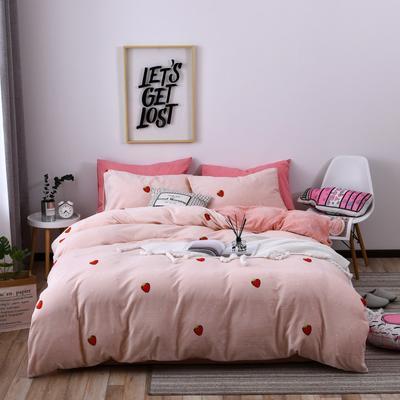 2018新款蓄能绒保暖四件套 1.8m(6英尺)床 草莓