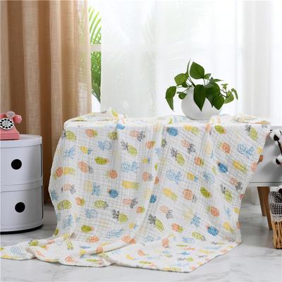 2019新款水洗纱布盖毯 110x140cm 菠萝