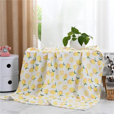 2019新款水洗纱布盖毯 110x140cm 柠檬一夏