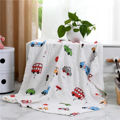 2019新款水洗纱布盖毯 110x140cm 上层巴士