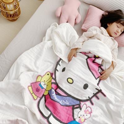 2019新款全棉6层纱布夏被 120x150cm 皇冠Kitty