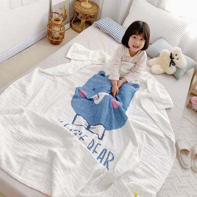 2019新款全棉6层纱布夏被 120x150cm 开心小熊