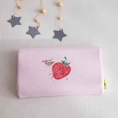 2019新款针织彩棉乳胶枕 草莓26*44cm