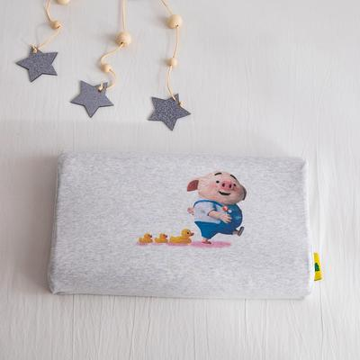 2019新款针织彩棉乳胶枕 幸运小猪26*44cm