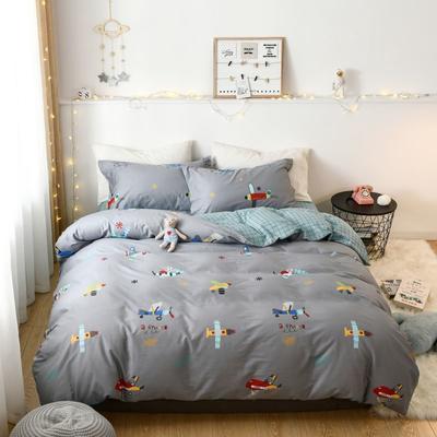 2019新款全棉卡通四件套 1.2m三件套床单款 飞跃童梦