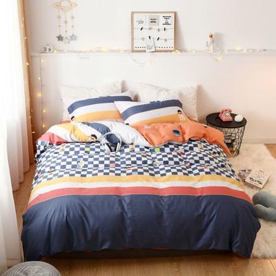 2019新款全棉卡通四件套 1.2m三件套床单款 欢乐小聚