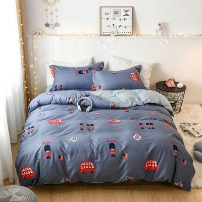 2019新款全棉卡通四件套 1.2m三件套床单款 伦敦骑士