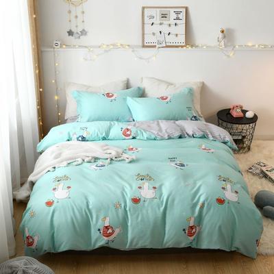 2019新款全棉卡通四件套 1.2m三件套床单款 美好的一天