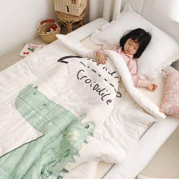 2019新款新品幼儿园儿童高密纱大版卡通有机棉花被