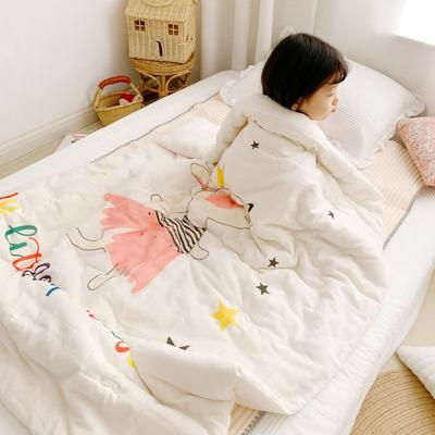 2019新款新品幼兒園兒童高密紗大版卡通有機棉花被 120x150cm/2斤 兔公主