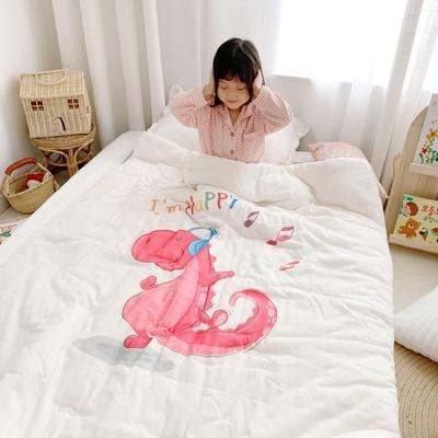 2019新款新品幼兒園兒童高密紗大版卡通有機棉花被 120x150cm/2斤 音樂恐龍