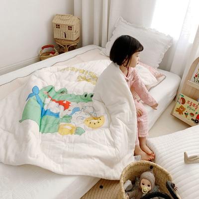 2019新款新品幼兒園兒童高密紗大版卡通有機棉花被 120x150cm/2斤 早安