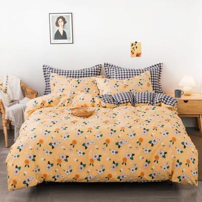 2020新款40支全棉四件套 1.2m床单款三件套 阳光小菊
