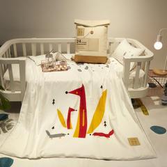 2018新款儿童纱布套数码印花蚕丝被 120x150cm 小狐狸