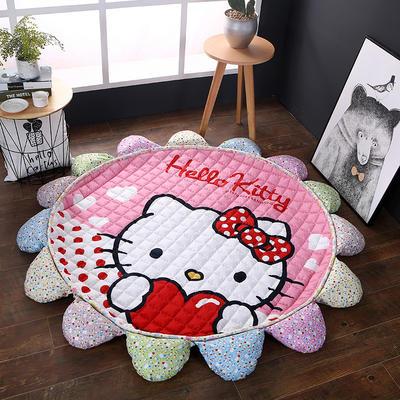 ins北欧宜家风棉质花瓣地垫 直径1.5m中间2~3公分整体1.8m 爱心kt