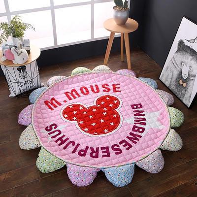 ins北欧宜家风棉质花瓣地垫 直径1.5m中间2~3公分整体1.8m 红米奇