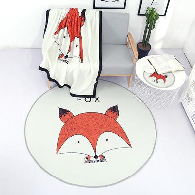 北欧风圆形地垫 直径37cm 狐狸