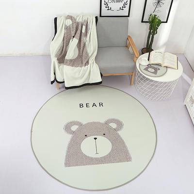 北欧风圆形地垫 直径37cm 小熊